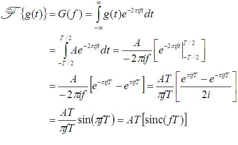 TheFourierTransform com - Fourier Transform of the Box Function